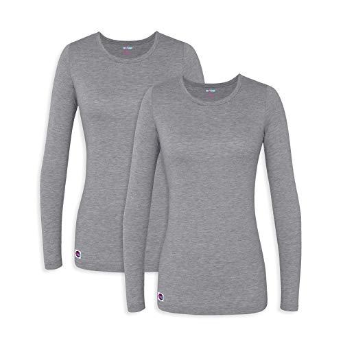 (Sivvan 2 Pack Women's Comfort Long Sleeve T-Shirt/Underscrub Tee - S8500-2 - DMG - S )