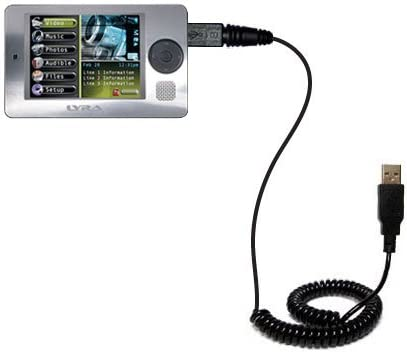 Charging and HotSync functions with one cable Unique Gomadic Coiled USB Charge and Data Sync cable compatible with RCA X3000 LYRA Media Player Built with TipExchange