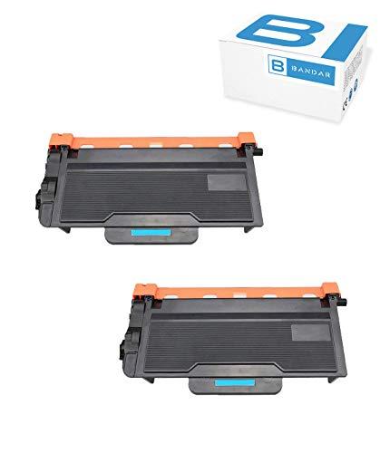 Bandar 2 Pack TN850 Toner Black Compatible High Yield TN820 TN850BK Ink Cartridges for Brother HL-L6200DW, MFC-L6800DW, DCP-L5500DN, DCP-L5600DN, HL-L6200DWT, MFC-L6900DW