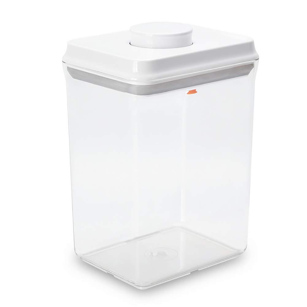 CASILE Large Capacity Square Tight Food Storage Containers Food Grade Plastic Milk Powder Tank for Keeps Food Fresh and Dry,2300ml