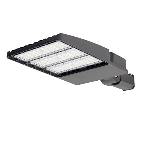 KCCCT led shoebox Outdoor Parking lot Light commerical Security Area Lighting Fixture 130LM/W Slipfitter UL & DLC Listed Weatherproof (Standard, 240W) For Sale