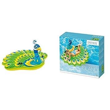 lively moments Isla de baño pavo real/Flotador Pato de baño/Colchoneta/ FLOTADOR ANIMAL aprox. 193 x 163 x 94cm: Amazon.es: Juguetes y juegos