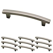 Franklin Brass P29615K-904-B Pierce Kitchen or Furniture Cabinet Hardware Drawer Handle Pull, 4 inch, Heirloom Silver, 10 Pack