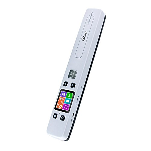 NikoMaku Portable Scanner For Documents And Images, Mobile Scanner, LCD Display, 1050 DPI High Resolution, OCR Accuracy, PDF/JPEG, Monochrome/Color, USB Interface, SD Card Storage Maximum 32 G