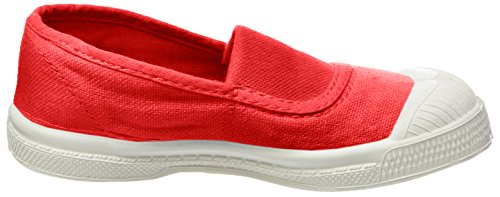 Bensimon Unisex-Kinder Tennis Elastique Sneaker Rot (Rouge)
