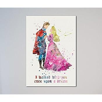 975e11cde2db2 Amazon.com  Uhomate Princess Aurora Sleeping Beauty Home Canvas ...