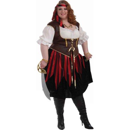 Forum Novelties Women's Pirate Lady Costume, Multi, 3X