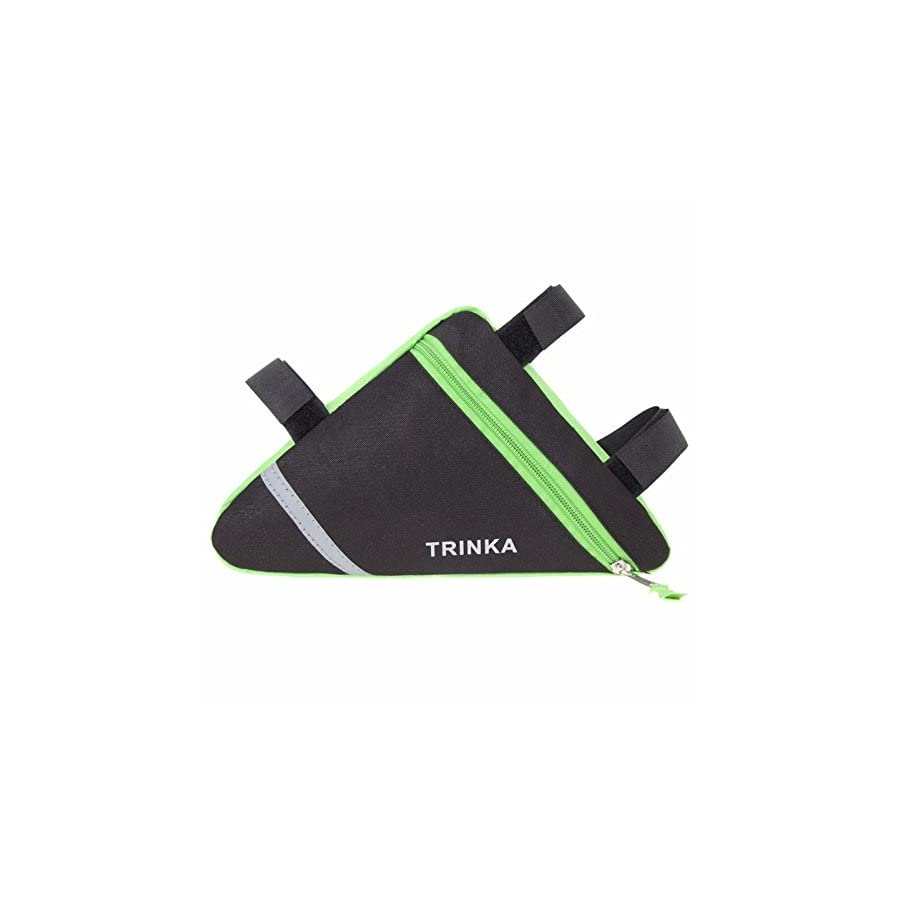 TRINKA Waterproof Triangle Bike Bicycle Frame Bag, Strap On Reflective Front Tube Pouch Bag Outdoor Sports 1.5L