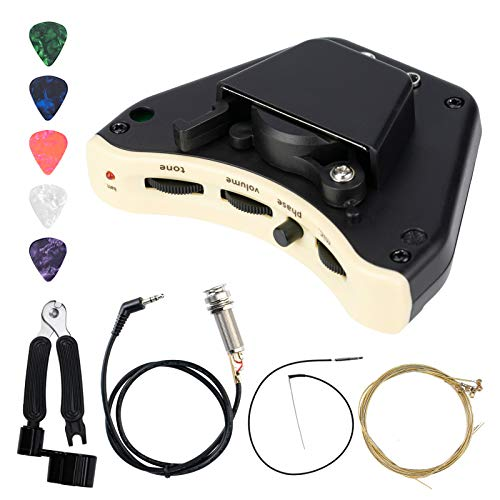 Acoustic Guitar Pickups with Microphone - Soundhole Double Mic Pickup Set for Classic Folk Guitars