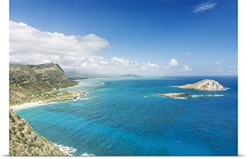Poster Print entitled Hawaii, Oahu, North Shore from Makapu'u Point by Rob Tilley (North Shore Oahu Hawaii)