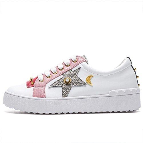 a Casuales Juego de de Blancos Zapatos Planos para Color Libre ...