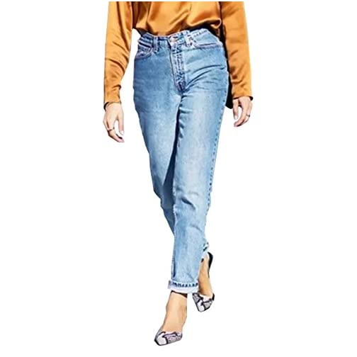 Straight Fit High Waisted Boyfriend Jeans for Women 3