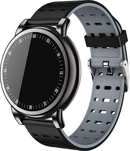 M-HERO Men Sport Pedometer Smart Watch Waterproof Fitness Tracker Heart Rate Monitor Women Clock Smartwatch Blood Pressure Large Round Color Screen Smart Watch