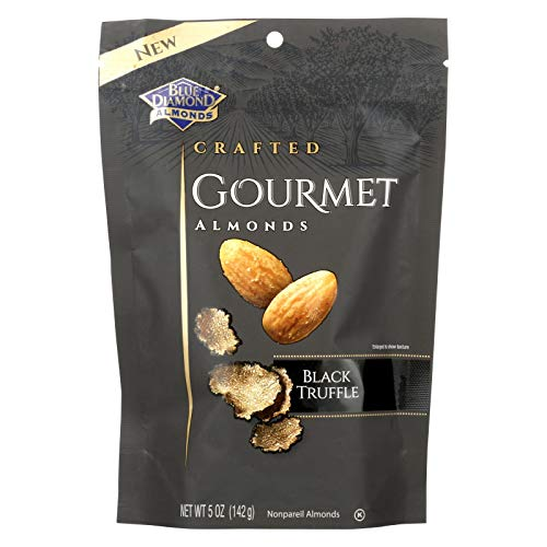 BLUE DIAMOND, ALMONDS, BLACK TRUFFLE, Pack of 6, Size 5 OZ - No Artificial Ingredients Kosher Vegan Yeast Free (Italian Truffles Almond)