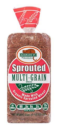 Alvarado Street Bakery Organic Sprouted Wheat Multi-Grain Bread, 24 Ounce -- 6 per case.