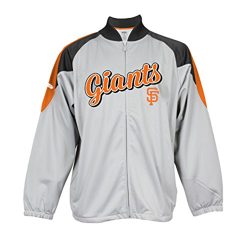 MLB San Francisco Giants Men's Fashion Track Jacket, Grey, (San Francisco Giants Body)