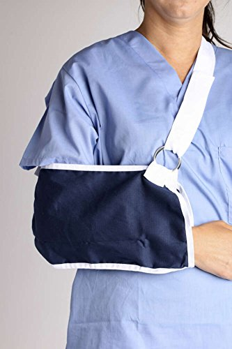 MediChoice Arm Sling, Universal, Envelope Style, Adjustable Wide Shoulder Strap With Hook And Loop Closure, Breathable Polyester, 7 Inch x 18 Inch, Navy, 1314ASL2150 (Each of 1) by MediChoice