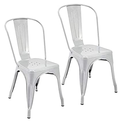 Peachy Amazon Com Metal Dining Chair Stackable Dining Chair Creativecarmelina Interior Chair Design Creativecarmelinacom