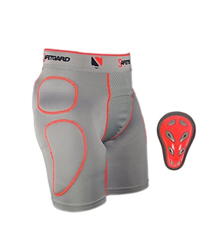 New! SafeTGard Ultra Series Youth Sliding Short with Cage Cup in Neon! - Youth Regular