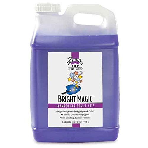 - Pet Shampoo Dog & Cat Grooming Bright Magic Gentle Cherry Scented Choose Size (2.5 Gallon)