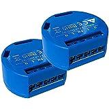 Shelly 1 One - Relé inalámbrico para automatización doméstica (2 unidades)