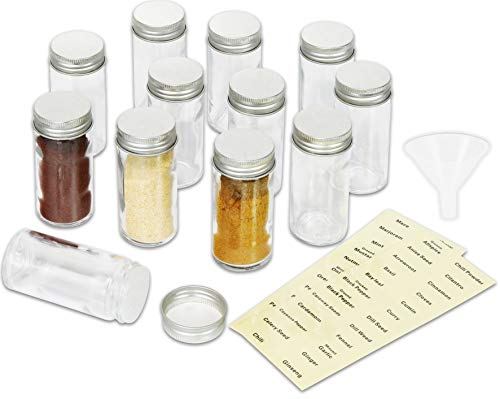 SimpleHouseware 12 Spice Bottles w/label Set