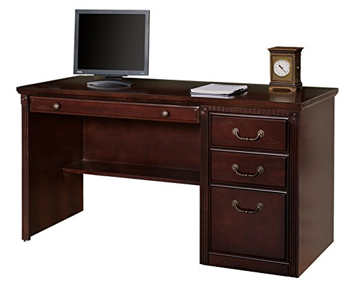 Double Dentil Molding - Martin Furniture Contemporary Office Double Pedestal Executive Desk