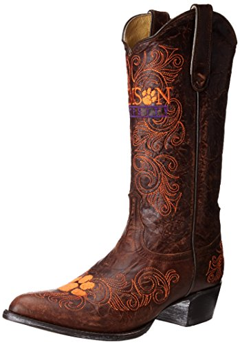 Cowgirl 1 Cl L035 Brass Women's University Pointed Boot Toe Clemson Gameday tUzqwHx
