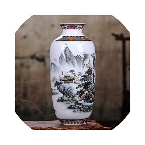 (Ceramic Vase Vintage Chineseanimal Vase Fine Smooth Surface Home Decoration nishing Articles,5)