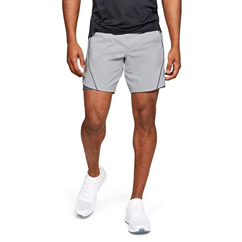 Under Armour Men's Speedpocket 8'' Linerless Shorts, Mod Gray//Reflective, Large by Under Armour (Image #1)