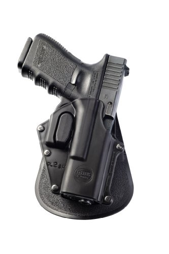 Gl2 Fobus Paddle Holster - Fobus Tactical GL-2 SH Standard Right Hand Conceal Carry Polymer Paddle Holster For Glock 19/17/22 - Black