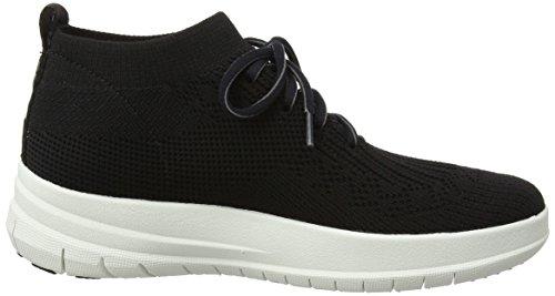Uberknit 001 on Women's Slip Black Black Sneaker Hi High Top Fitflop AwUq5aa