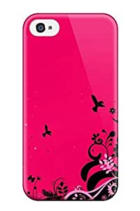 New ZippyDoritEduard Super Strong Pink Abstract PC Case Cover For Iphone 4/4s