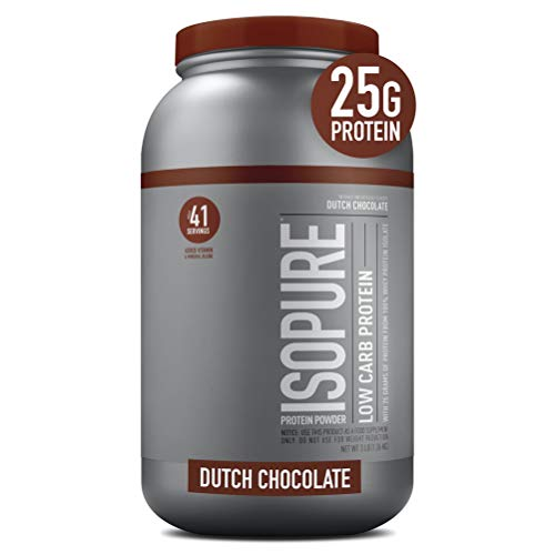 Isopure Low Carb, Vitamin C and Zinc for Immune Support, 25g Protein, Keto Friendly Protein Powder, 100% Whey Protein…