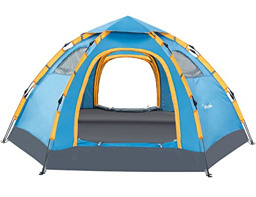 Wnnideo 5-6 Person Tent Instant Pop Up Family Camping Tent