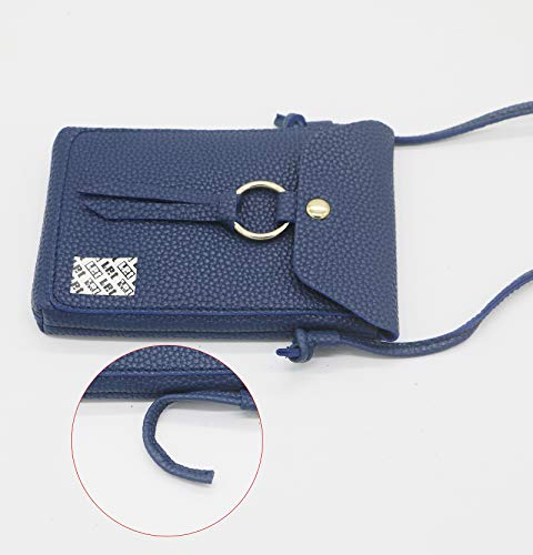 Crossbody Plus Strap X with for Slim Plus 7 LefRight Samsung 5 PU Pouch Edge 8 Women J7 Purse S8 Bag Navy Small Layer Leather Shoulder Note iPhone 2 S7 Rw7q7aY