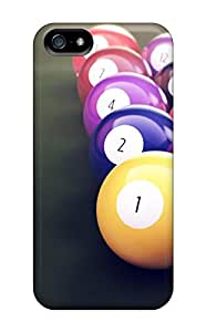 Awesome Free Walking Defender Tpu Hard Case Cover For Iphone 5/5s- Billiards