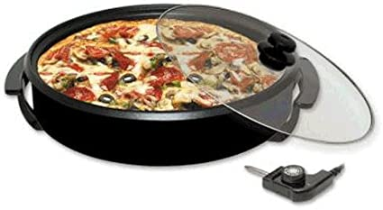 Paellero PizzaPan Horno Electrico con Termostato y tapa con Valvula 32 cm.