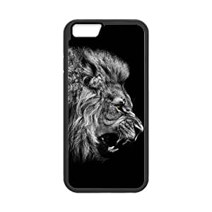 iPhone 6 Case, [animal-Lion] iPhone 6 (4.7) Case Custom Durable Case Cover for iPhone6 TPU case(Laser Technology)