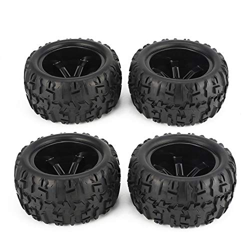 RC Tires 1/8 Scale RC Monster Truck Buggy Tires 4 PCS 150 mm RC Wheels Rim and Tires for 1/8 Traxxas Monster Truck HSP HPI E-MAXX Savage Flux Racing RC Car Accessories ()
