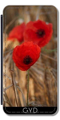 Leder Flip Case Tasche Hülle für Apple Iphone 7 / Iphone 8 - Mohnblumen In Einem Feld by UtArt