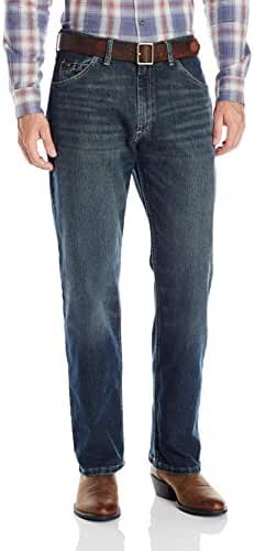 Wrangler Men's Advanced Comfort 01 Competition Relaxed-Fit Jean