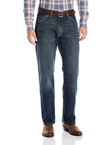 Wrangler Men's Advanced Comfort 01 Competition Relaxed Fit Jean, Root Beer, - Straight Denim Jean Root Fit