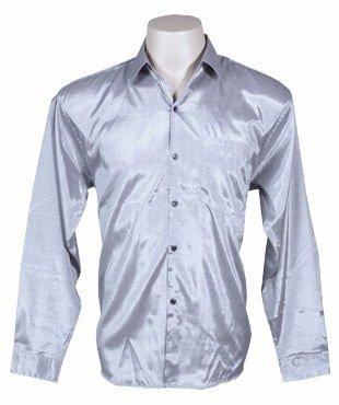 0892d31c6 Camisa tailandesa de hombre de manga larga mangas en plata talla XL   Amazon.es  Hogar