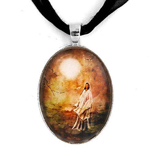 Quan Yin Pendant Necklace Lotus Pond Zen Goddess Handmade Boho Jewelry (Quan Yin Pendant)