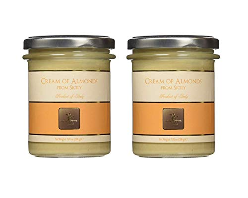 Vincente Sicilian Cream of Almonds Nut Spread 7.5 oz (Pack of 2)