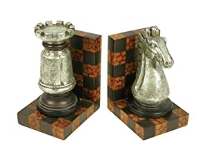 Sterling Home Grand Master Bookends, 9-3/4-Inch Tall