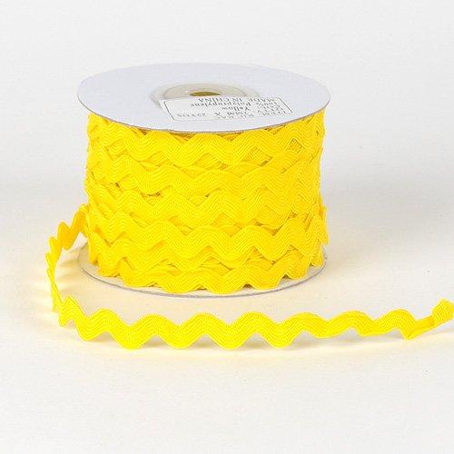 Yellow Ric Rac Trim 5mm - 25 Yards BBCrafts