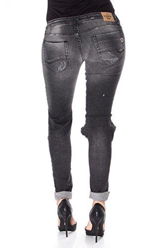 Jeans Slim P40ddv1zb4 P40 Nero Strappati Donna Please dwAqUw