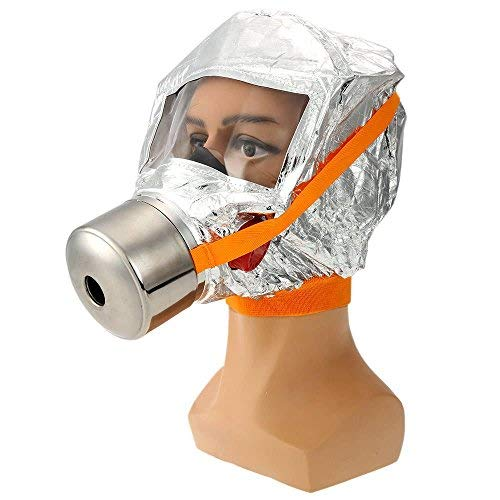Fire Mask Emergency Escape Mask Smoke Gas Mask Self-life-saving Respirator for Home Hotel Shop Market - Safety & Protective Gear Masks -1 x FIRE ACTION Sign Sticker